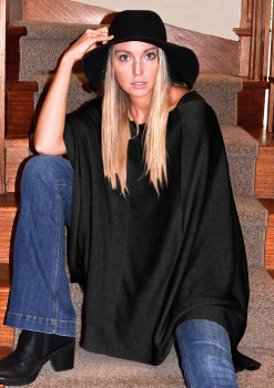Staircase camel poncho square