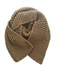 taupe chunky scarf