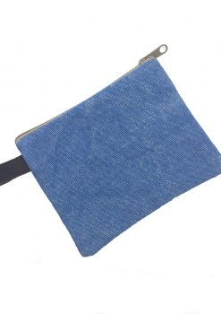 blue mosaic pouch back