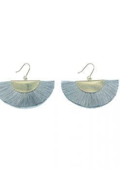 Grey tassel earring2