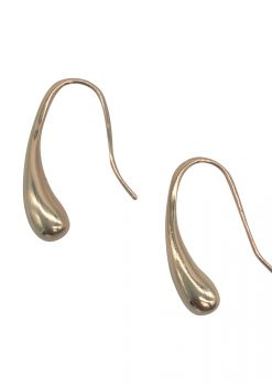 Rose gold tear drop earring