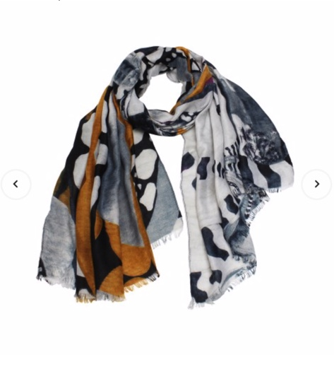 Gold reef scarf