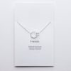 Sterling silver linked circle necklace