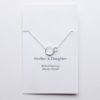 Mother and Daughter sterling silver necklace