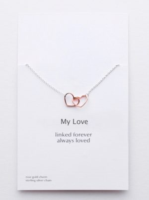 My love linked hearts necklace