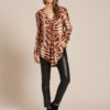 Zebra print blouse in soft rayon