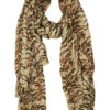 tiger print khaki and black modal scarf