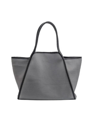 mesh tote bag in grey