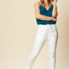 pull on jogger jean in white
