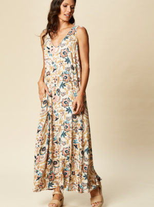 maxi dress in floral print