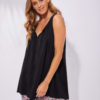 sleeveless blouse in black