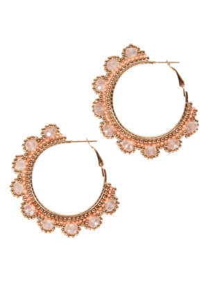 hoop earrings with glass detail