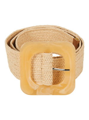 straw belt in light beige colour