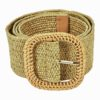 straw belt in tan