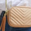 cross body bag in beige