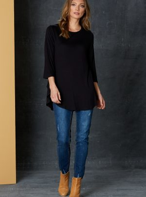 long black stretchy top
