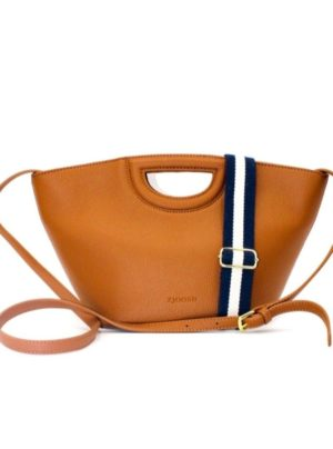 Tote bag in tan with carry handle and strap