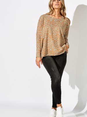 knit top in caramello