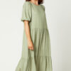 Summer tiered dress with raised dots