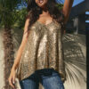 tank top with gold sequins